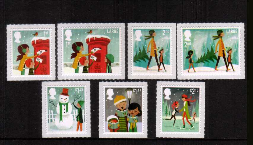 view larger image for SG 3650-3656 (2014) - Christmas - Illustrations by Andrew Bannecker set of seven
