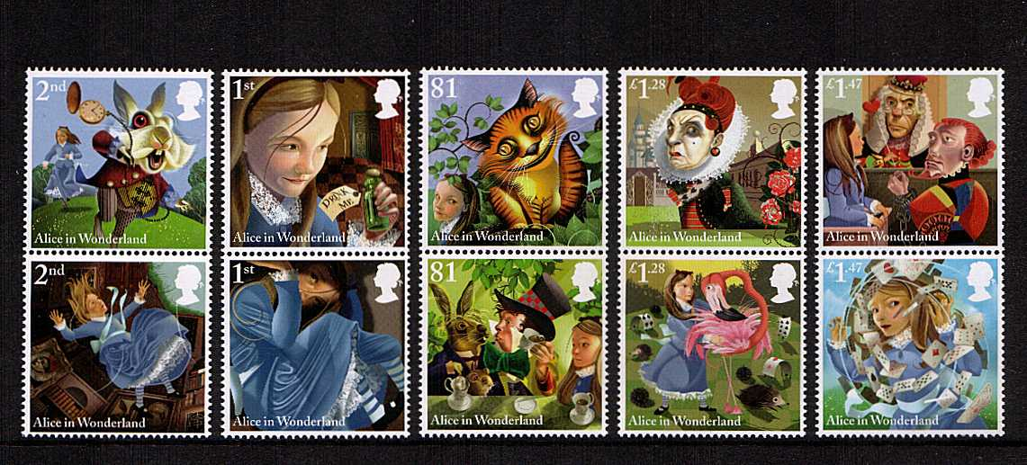 view larger image for SG 3658-3667 (2015) - Alice in Wonderland<br/>