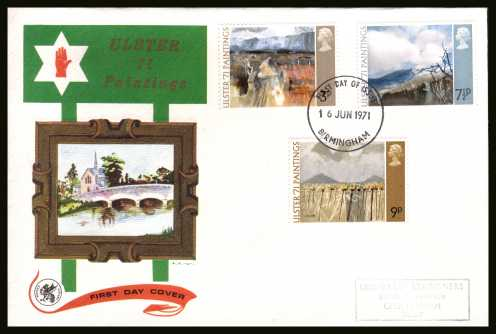 view larger back view image for Ulster Paintings set of three on a handstamped addressed WESSEX