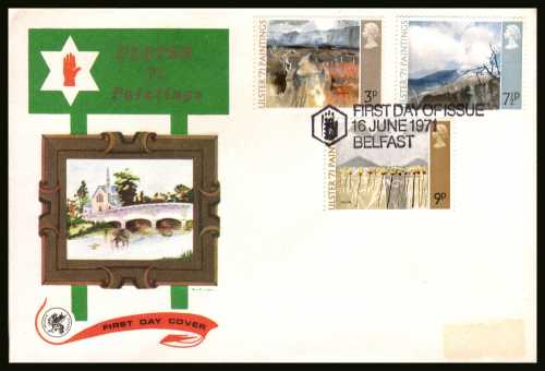 view larger back view image for Ulster Paintings set of three on an unaddressed WESSEX
