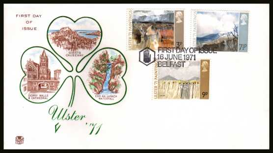 view larger back view image for Ulster Paintings set of three on an unaddressed colour STUART