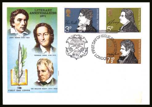 view larger back view image for Literary Anniversaries set of three on an unaddressed PHILART