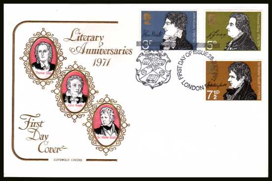 view larger back view image for Literary Anniversaries set of three on an unaddressed COTSWOLD