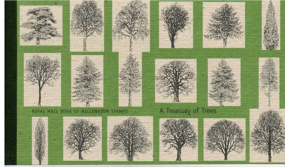British Stamps Prestige Booklets Item: view larger image for SG DX26 (2000) - �7 - A Treasury of Trees