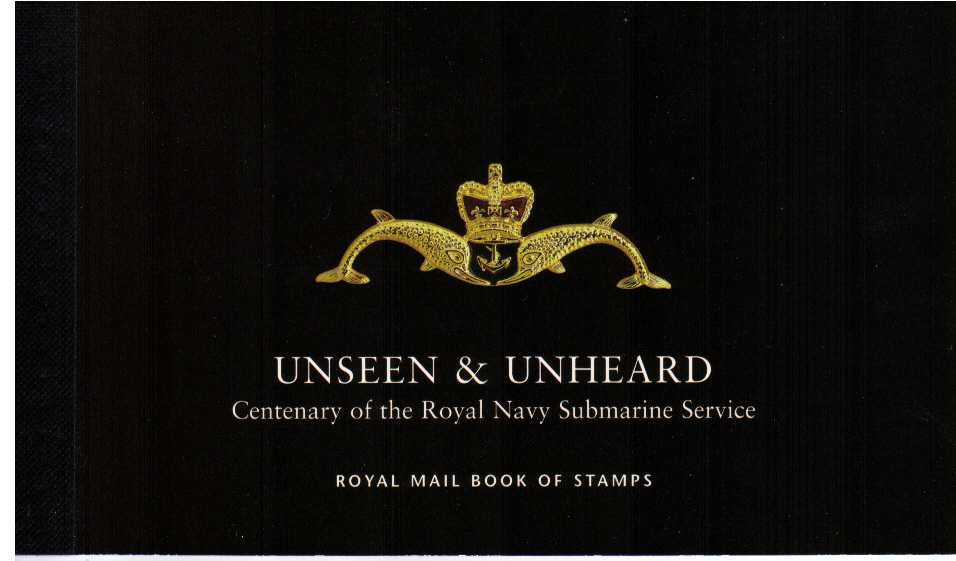 British Stamps Prestige Booklets Item: view larger image for SG DX27 (2001) - £6.76 - 'Unseen and Unheard' Centenary of Royal Navy Submarine Service
