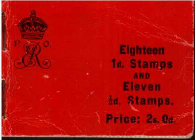 British Stamps Edward 7th Booklets Item: view larger image for SG BA5 (1909) - The 2/- Edward 7th complete booklet with trade adverts within. The red covers are a bit buckled but the contents are fine and fresh. A very, very rare booklet!<br/>SG Cat �2600