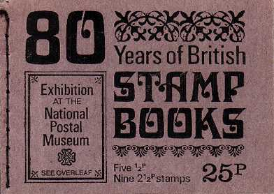 British Stamps QE II Stitched Decimal Booklets Item: view larger image for SG DH40 (1971) - 25p Booklet<br/>Dated April 1971 - NPM Exhibition of Stamp Booklets