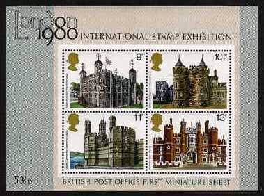 view larger image for SG MS1058 (1 Mar 1978) - British Architecture - Historic Buildings Minisheet