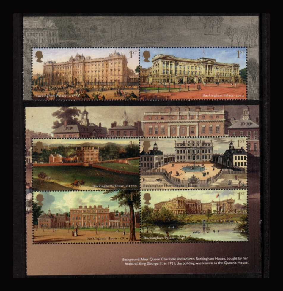 view larger image for SG 3589b-3594b (2014) - Buckingham Palace<br/>