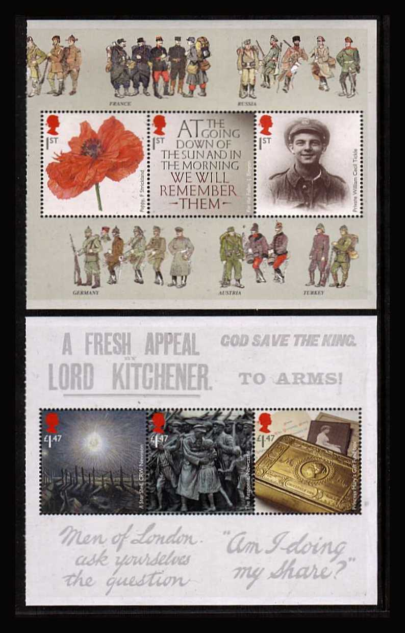 view larger image for SG 3626a-3631a (2014) - The Great War 2014 - 1st Issue<br/>