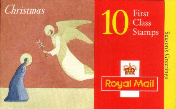 British Stamps Christmas Booklets Item: view larger image for SG LX11 (1996) - �2.60 - Containing ten 1st Class stamps (SG1951)