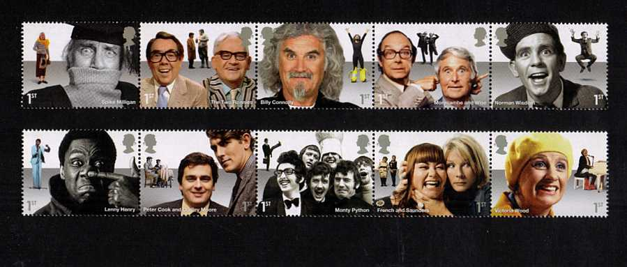 view larger image for SG 3697-3706 (2015) - Comedy Greats<br/>