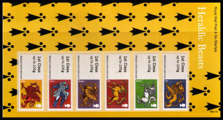 Stamp Image: view larger back view image for Heraldic Beasts