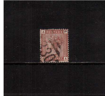 view larger image for SG 166 (1880) - 1d Venetian-Red. A good sound used stamp cancelled with an Irish cancel for MITCHELSTOWN - CORK. The stamp has a shortish perf at top. 