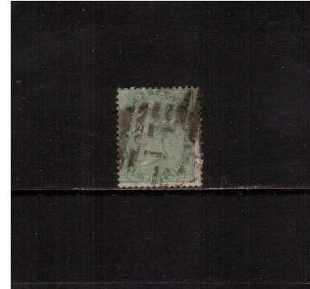 view larger image for SG 73 (1856) - 1/- Pale Green. A ggod sound used stamp centered to the left. SG Cat �350 