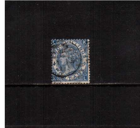 view larger image for SG 120 (1867) - 2/- Pale Blue lettered ''K-L''. A lovely looking stamp, bright and fresh but with tiny tear at top.<br/> SG Cat �275  