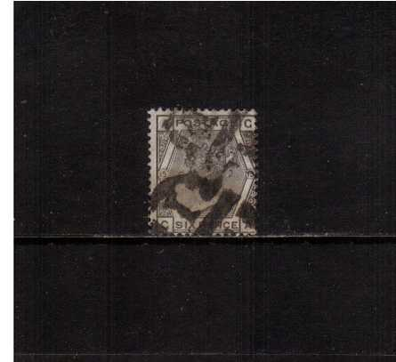 view larger image for SG 147 (1876) - 6d Grey from Plate 15 lettered ''G-A''. An average used stamp with a short perforation at foot. <br/>SG Cat �90 
