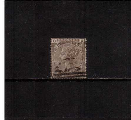 view larger image for SG 160 (1880) - 4d Grey-Brown from PLate 17 lettered ''K-G''. A lightly used stamp but with a cut edge at top.<br/> Cat �80