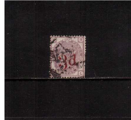 view larger image for SG 159 (1883) - 3d on 3d Lilac. A sound used stamp with some cut perforations at right. <br/>SG Cat �160 