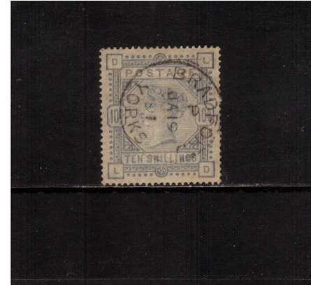view larger image for SG 183a (1883) - 10 Very Pale Ultramarine, a faded example lettered ''L-D'' cancelled with a large steel CDS for BRADFORD - YORKS dated JA 19 91. A great spacefiller!<br/>