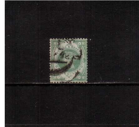 view larger image for SG 211 (1887) - 1/- Dull Green. A good used single, very slightly faded but in sound condition.<br/>SG Cat �80