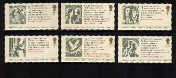 view larger image for SG 3718-3723 (2015) - 800th Anniversary of Magna Carta<br/>