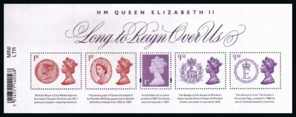view larger image for SG MS3747 (19 Sept 2015) - ''Long to Reign Over Us'' - HM Queen Elizabeth II
