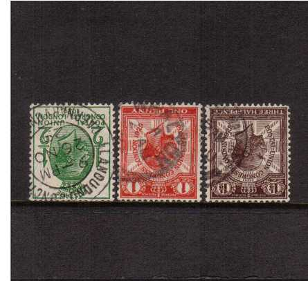 view larger image for SG 434Wi-436Wi (1929) - The Postal Union Congress low values set of three all with INVERTED WATERMARK fine used.