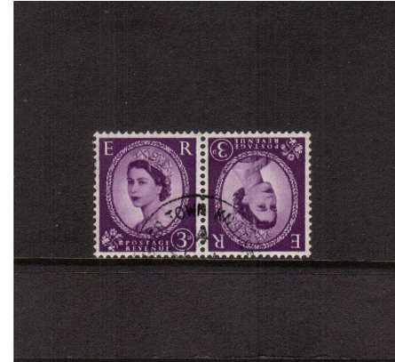 view larger image for SG 575var (1958) - 3d Deep Lilac pair showing the variety <b>'''t�te-b�che pair'</b> 