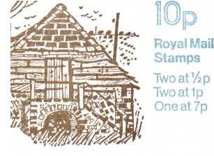 British Stamps QE II Folded Booklets Item: view larger image for SG FA9 (1979) - 10p Booklet - Design No. 6, Buildings in Sussex