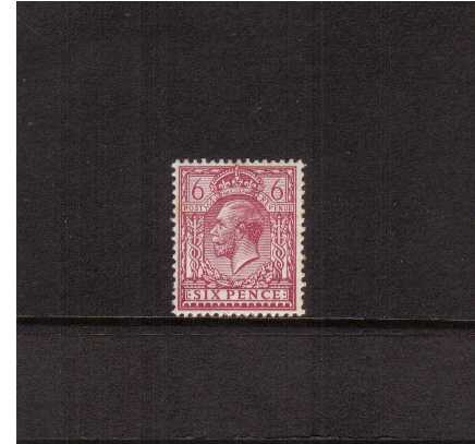 view larger image for SG 426 (1924) - 6d Reddish Purple on Chalky Paper <br/>