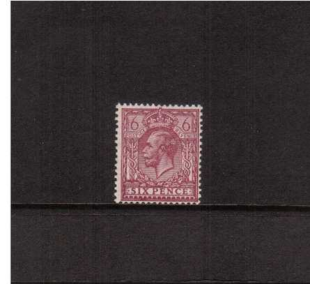 view larger image for SG 426a (1924) - 6d Purple on Ordinary Paper<br/>