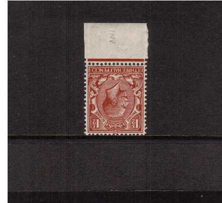 view larger image for SG 420Wi (1924) - 1�d Red-Brown<br/>
