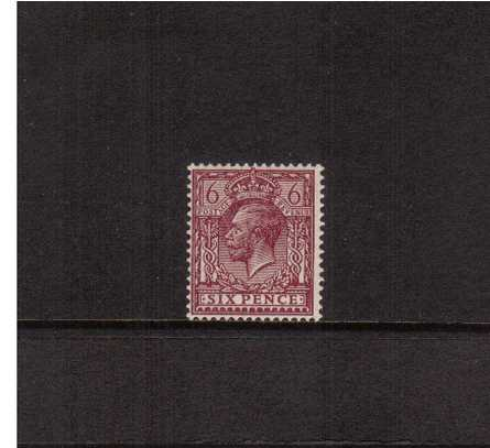 view larger image for SG 426a (1924) - 6d Purple<br/>a fine lightly mounted mint single