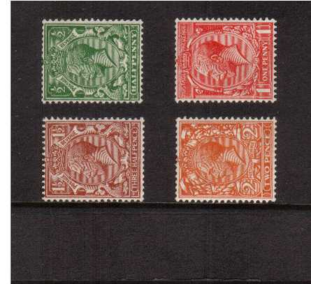 view larger image for SG 418a-421b (1924) - The WATERMARK SIDEWAYS set of four<br/>lightly mounted mint.