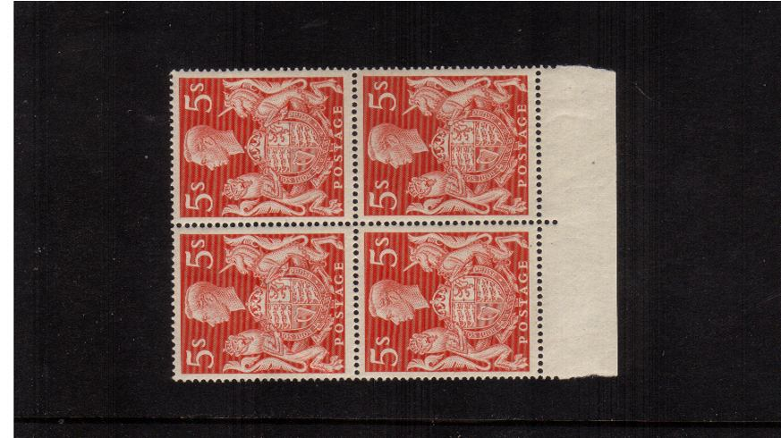 view larger image for SG 477 (1939) - 5/- Red<br/>