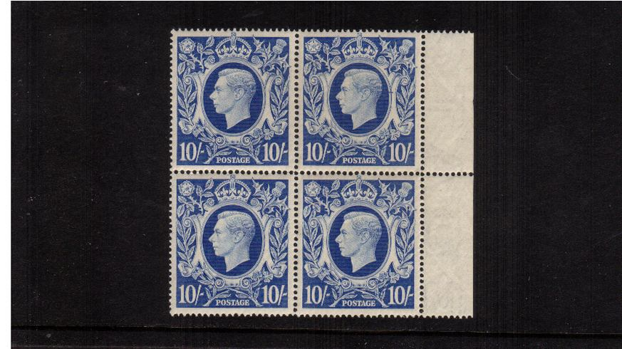 view larger image for SG 478b (1939) - 10/- Ultramarine<br/>