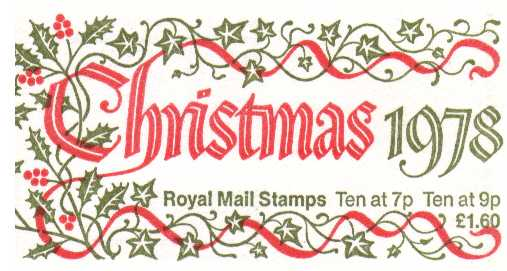 British Stamps Christmas Booklets Item: view larger image for SG FX1 (1978) - �1.60 - Containing Pane X875l