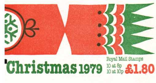 British Stamps Christmas Booklets Item: view larger image for SG FX2 (1979) - �1.80 - Containing Pane X879l