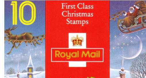 British Stamps Christmas Booklets Item: view larger image for SG LX4 (1993) - �2.50 - Containing ten 25p (SG1791)