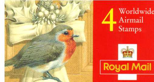 British Stamps Christmas Booklets Item: view larger image for SG LX8 (1995) - �2.40 - Containing four 60p (SG1990)