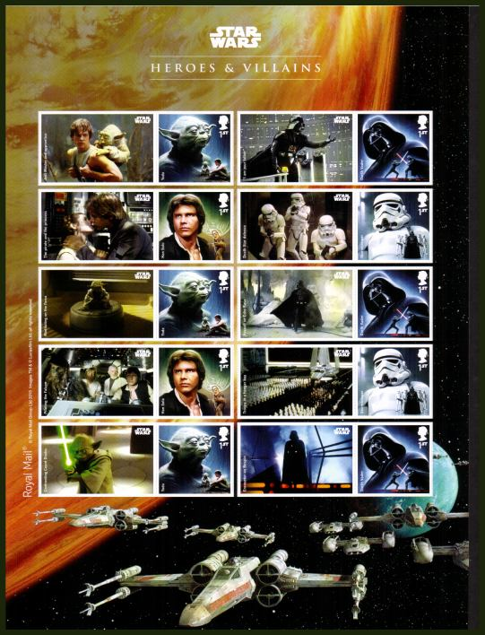 view larger image for SG LS96 (2015) - Star Wars Heroes & Villains Smilers sheet
