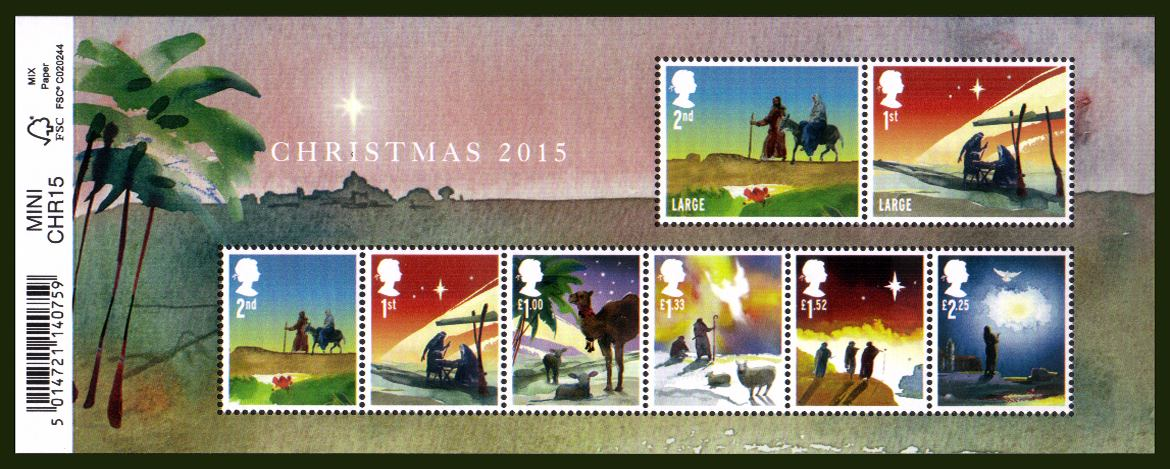 view larger image for SG MS3779 (3 Nov 2015) - Christmas<br/>
