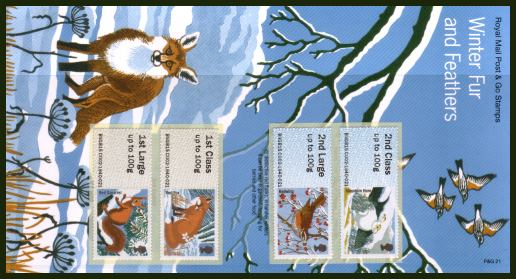 Stamp Image: view larger back view image for Winter Fur and Feathers