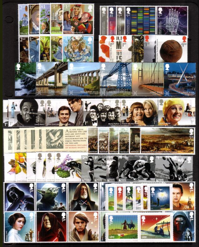 view larger image for Commemorative Year Sets -  (2015) - 11 Sets - 90 stamps
