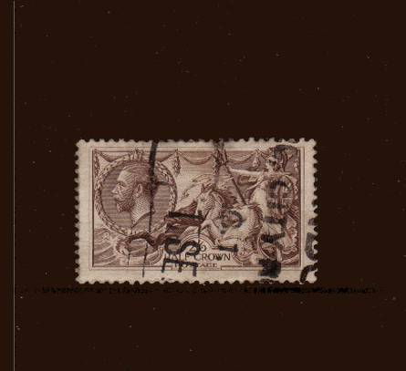 view larger image for SG 415 (1918) - <b>2/6d ''Seahorse'' Printed by Bradbury, Wilkinson</b><Br/>