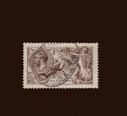 view larger image for SG 415a (1918) - <b>2/6d ''Seahorse'' Printed by Waterlow</b><Br/>