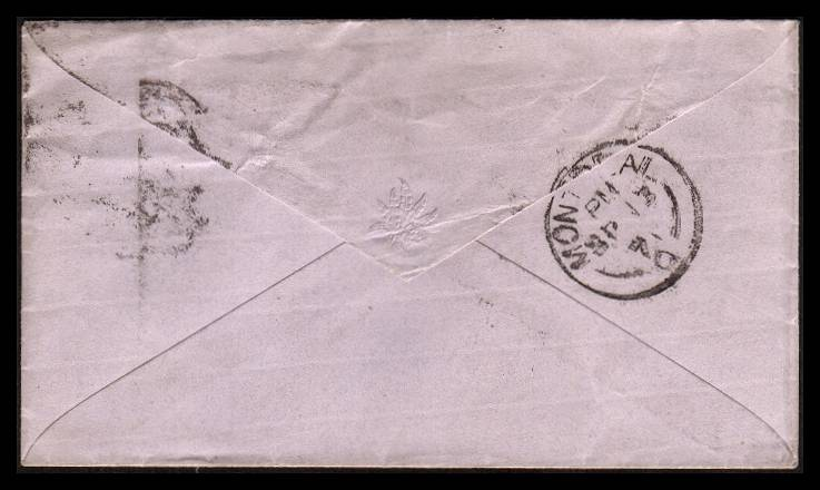 view larger back view of image for 3d Rose - Plate 6 lettered ''L-G'' tied to a small complete pale Blue envelope by a LONDON - E16 duplex dated AU 31 71 to MONTREAL - CANADA.<br/>SG Cat �110.00