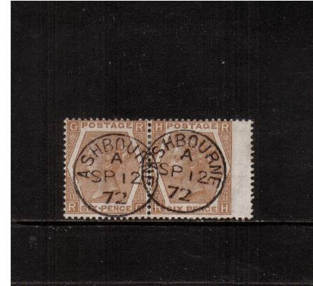 view larger image for SG 122a (1872) - 6d Chestnut - Watermark Spray - Plate 11<br/>