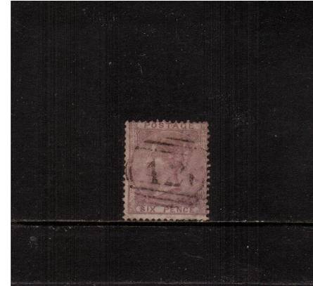 view larger image for SG 70 (1856) - 6d Pale Lilac<br/>